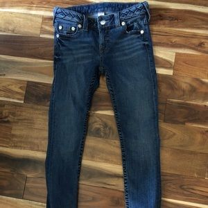 True religion size 27 jeans.